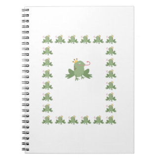 Frog Prince Baby Announcement Notebooks