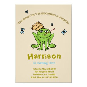 Frog birthday invitations announcements zazzle frog prince birthday invitation filmwisefo Images