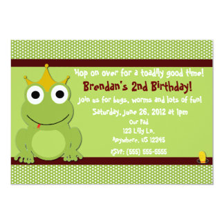 Frog Prince Boys Birthday Invitation