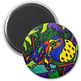 Frog Prince by Piliero 6 Cm Round Magnet