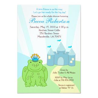 Frog PRINCE Castle Baby Shower 5x7 Invitation