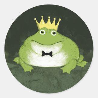 Frog Prince Classic Round Sticker