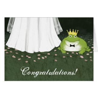 Frog Prince Fairy Tale Wedding Congratulations Card