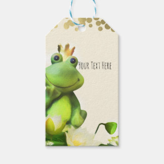 Frog Prince Green & Gold Baby Shower Custom Favor Gift Tags