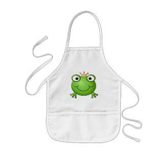Frog Prince. Happy Frog. Kids Apron