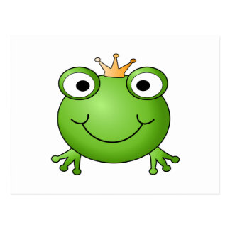 Frog Prince. Happy Frog. Postcard