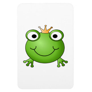 Frog Prince. Happy Frog. Rectangular Photo Magnet