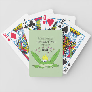 Frog Prince Kiss Funny Cute Cartoon Love Song Chic Bicycle Playing Cards