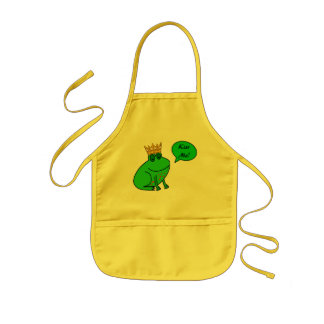 Frog Prince - Kitchen Apron for Kids Toddlers Kids Apron