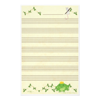 Frog Prince & Mouse Music Manuscript Paper