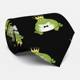 Frog Prince Pattern Tie
