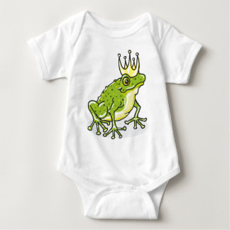 Frog Prince Princess Sketch Baby Bodysuit