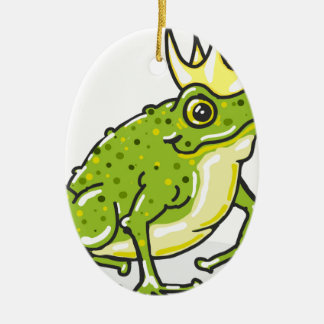 Frog Prince Princess Sketch Ceramic Oval Decoration