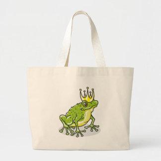 Frog Prince Princess Sketch Large Tote Bag
