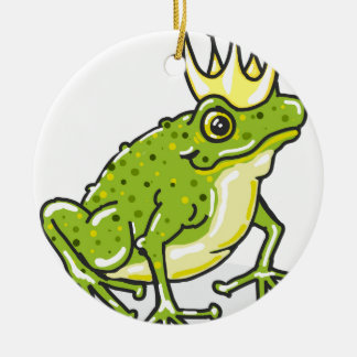 Frog Prince Princess Sketch Round Ceramic Decoration