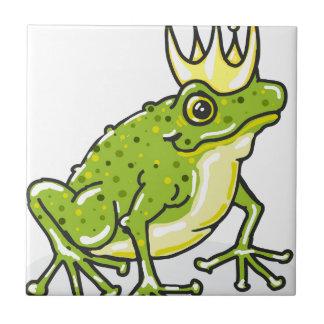 Frog Prince Princess Sketch Small Square Tile
