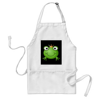 Frog Prince Smiling Frog with a Crown Apron