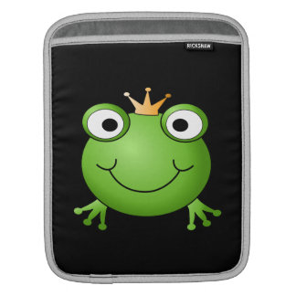 Frog Prince. Smiling Frog with a Crown. iPad Sleeves