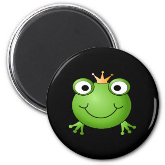 Frog Prince Smiling Frog with a Crown Fridge Magnet