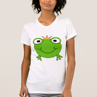 Frog Prince. Smiling Frog with a Crown. T-Shirt