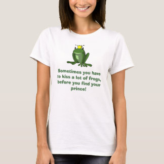 Frog Prince Tee Shirt for a single girl