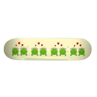 Frog Princess and Frog Prince, with hearts. Skate Board Deck