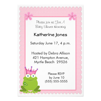 Frog Princess Baby Shower Invitation