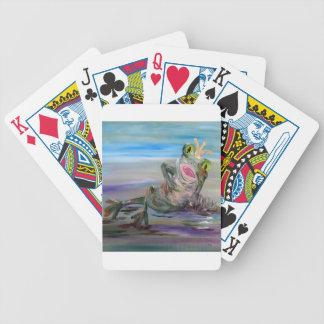 Frog Princess Bicycle Playing Cards
