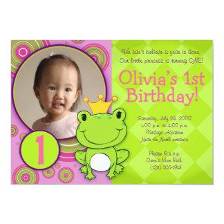 Frog Princess Birthday Card