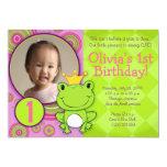Frog Princess Birthday Custom Invites