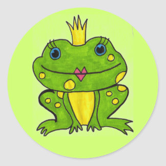 Frog Princess Classic Round Sticker