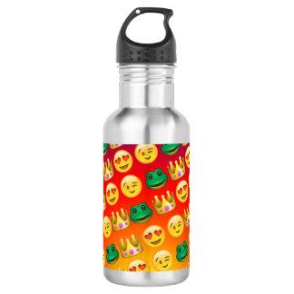 Frog & Princess Emojis Pattern 532 Ml Water Bottle
