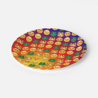 Frog & Princess Emojis Pattern 7 Inch Paper Plate