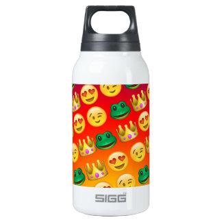 Frog & Princess Emojis Pattern Insulated Water Bottle
