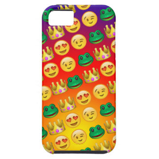 Frog & Princess Emojis Pattern iPhone 5 Cases