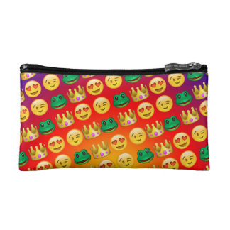 Frog & Princess Emojis Pattern Makeup Bag