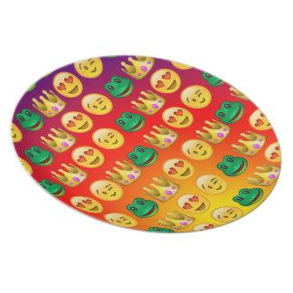 Frog & Princess Emojis Pattern Plate