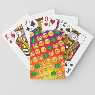 Frog & Princess Emojis Pattern Playing Cards