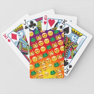 Frog & Princess Emojis Pattern Poker Deck