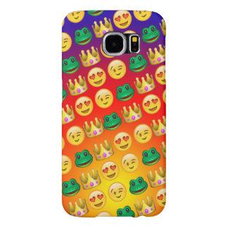 Frog & Princess Emojis Pattern Samsung Galaxy S6 Cases