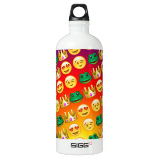 Frog & Princess Emojis Pattern SIGG Traveller 1.0L Water Bottle