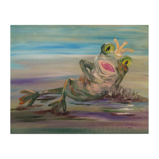Frog Princess Wood Wall Decor
