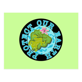 Frog Protect Our Earth T-shirts and Gifts Postcard
