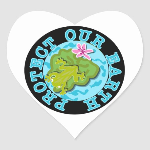 Frog Protect Our Earth T-shirts and Gifts Stickers