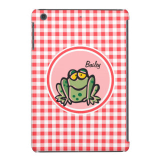 Frog; Red and White Gingham iPad Mini Retina Covers