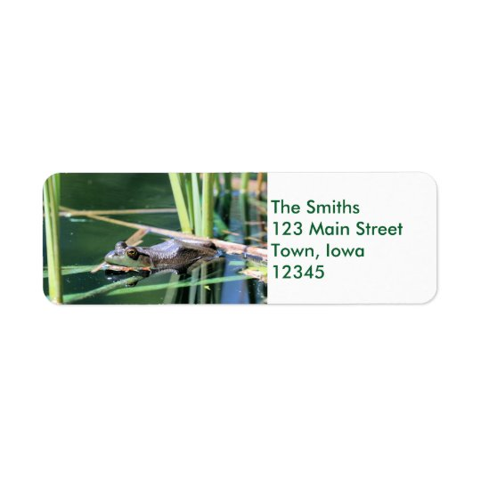 Frog Return Address Label