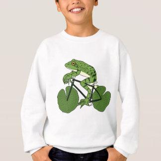 Frog Riding Bike With Lily Pad Wheels Sweatshirt