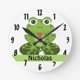 Frog Round Clock