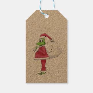 Frog Santa Gift Tag