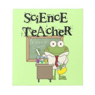 Frog Science Teacher Notepad